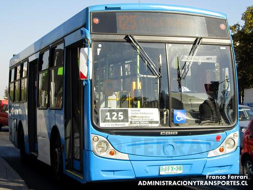 Transantiago - Inversiones Alsacia - Caio Mondego / Agrale (BJFX38)
