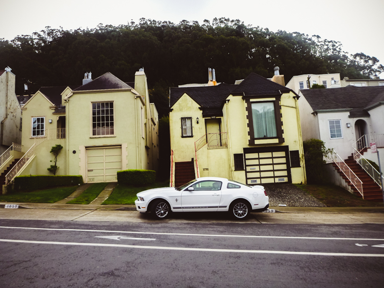 sf // ford mustang and hills house