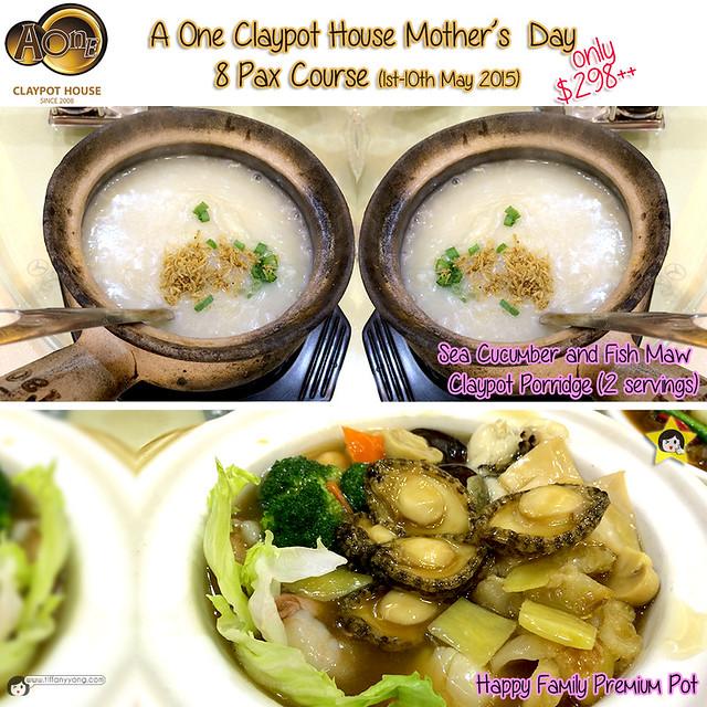 AOne Claypot Mothers Day Menu 8 pax