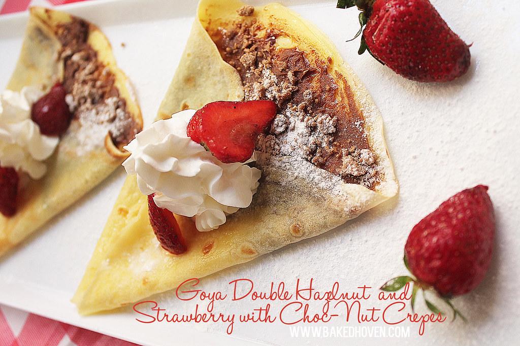 Goya Double Hazelnut and Strawberry with Choc-Nut Crepes
