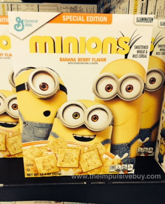General Mills Special Edition Minions Cereal