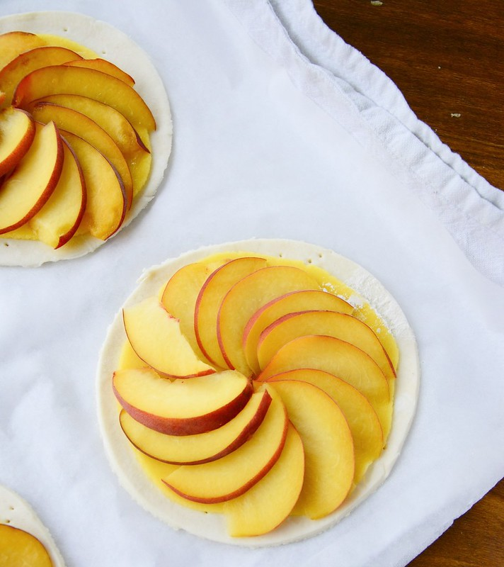 Peach and Marzipan Galettes