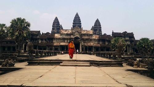 Angkor Wat and Monk