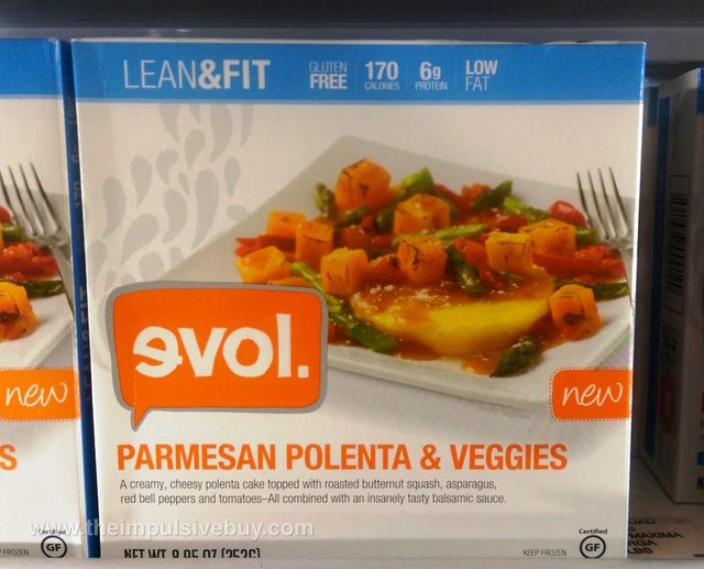 evol Lean & Fit Parmesan Polenta & Veggies
