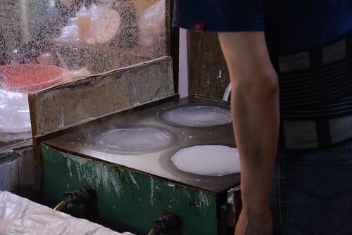 水仙宮市場の春巻皮