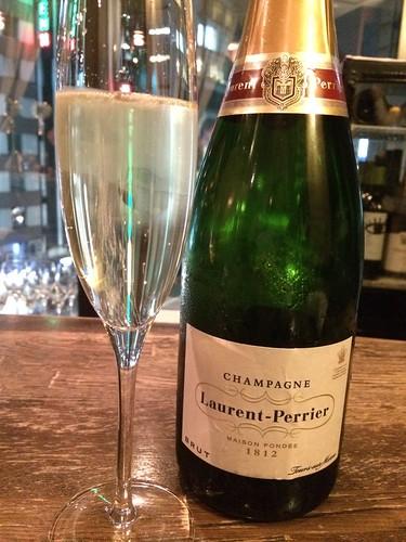 シャンパンで乾杯。ローラン・ペリエ ブリュット@マダムシュリンプグレイス