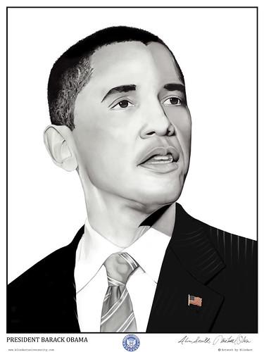 """""""Obama Portrait"""" by Alim Smith (Yesterday Nite)"""