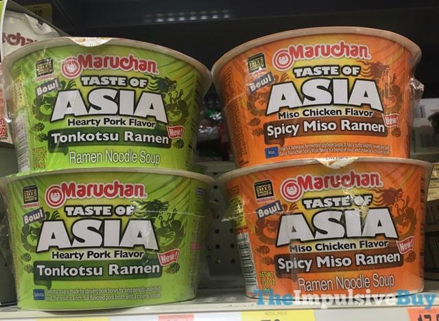 Maruchan Taste of Asia Bowls (Tonkotsu Ramen and Spicy Miso Ramen)