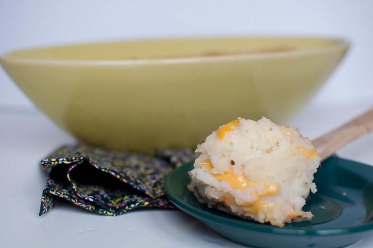 Baked Cheddar Mashed Potatoes 6