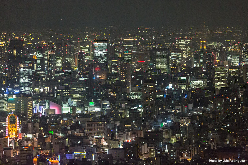 Vistas de Osaka desde el mirador de la torre Abeno Harukas