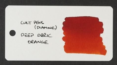Cult Pens (Diamine) Deep Dark Orange - Word Card