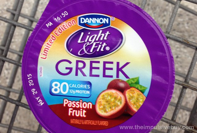 Dannon Limited Edition Light & Fit Passion Fruit Greek Yogurt