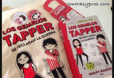 """""""Los gemelos Tapper se declaran la guerra"""", libro Boolino"""