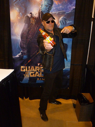 Michael Rooker with my hot sauce