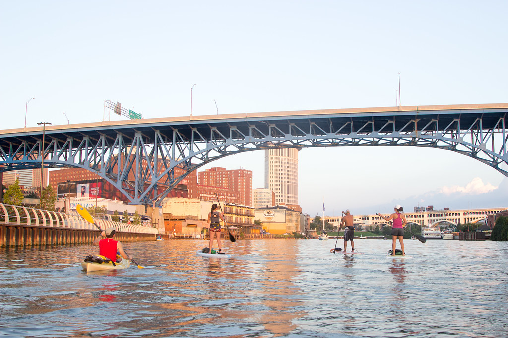 Paddling the Cuyahoga River