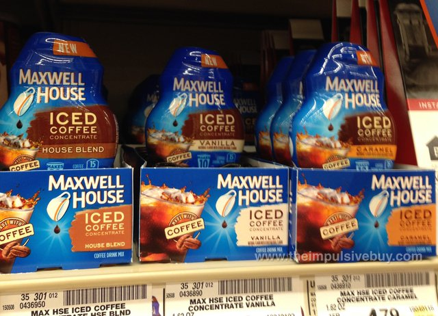 Maxwell House Iced Coffee Concentrate (House Blend, Vanilla, and Caramel)