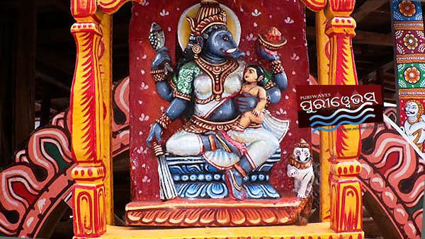 Maa Barahi Parswa Devi Of Maa Subhadra Chariot DARPADALANA/PADMADHWAJA/DEVADALANA