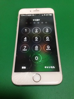 157_iPhone6Sのフロントパネルガラス割れ