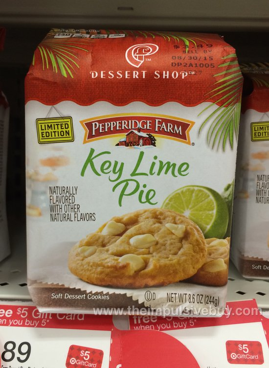 Pepperidge Farm Limited Edition Dessert Shop Key Lime Pie Cookies