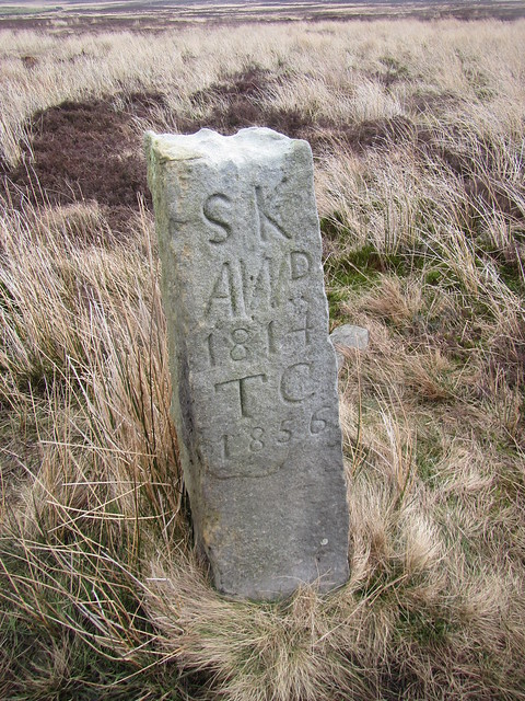 Boundary Stone, between Hob Cross and Hob on the Hill