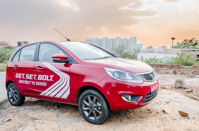 Tata Bolt Gurgaon skyline