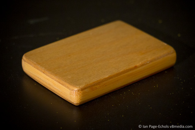 Bamboo and plywood business card case back