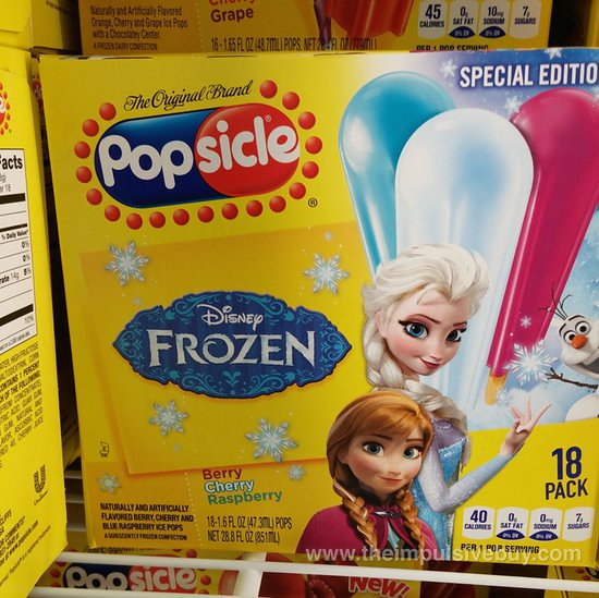 Special Edition Disney Frozen Popsicle