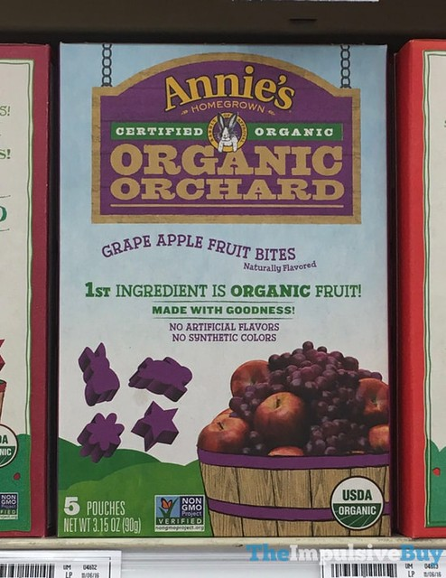 Annie's Homegrown Organic Orchard Grape Apple Fruit Bites
