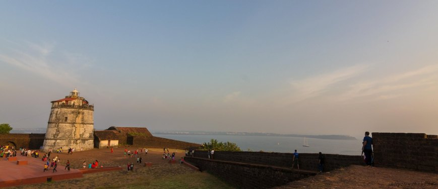 aguada fort lighthouse arabian sea goa