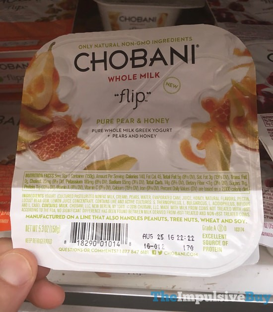 Chobani Whole Milk Flip Pure Pear & Honey Greek Yogurt