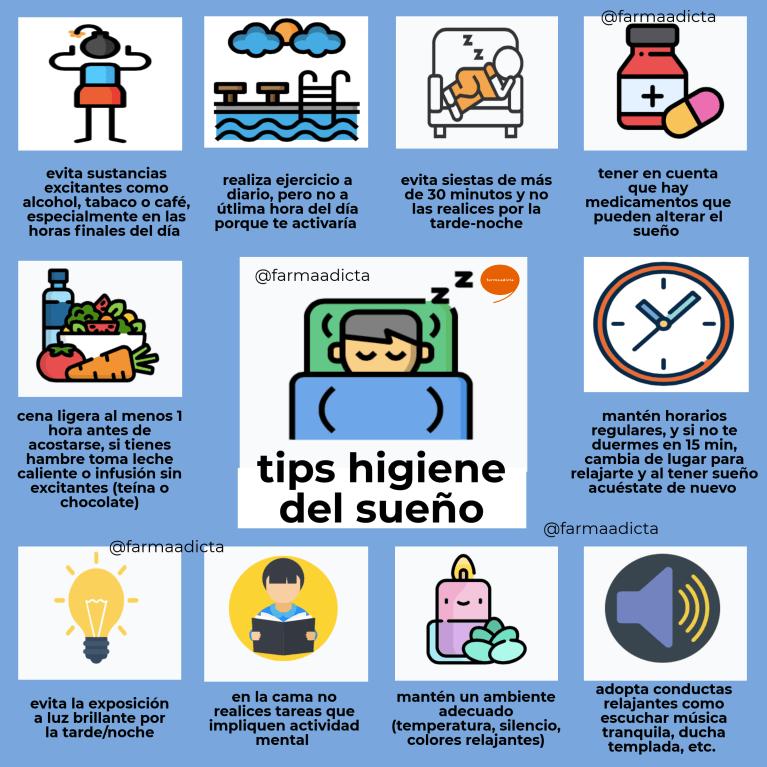 tips de higiene del sueño