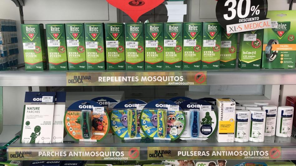 Distintas presentaciones de repelentes de insectos