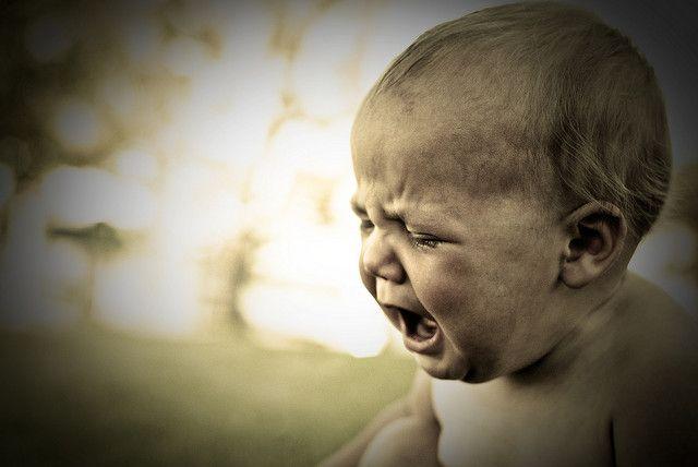 bebé llorando