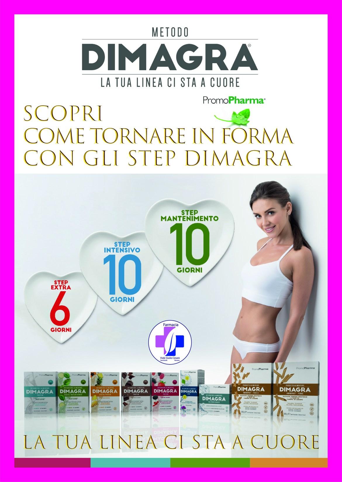 Metodo DIMAGRA Promopharma per dimagrire perdere peso mantenendo la tonicità muscolare