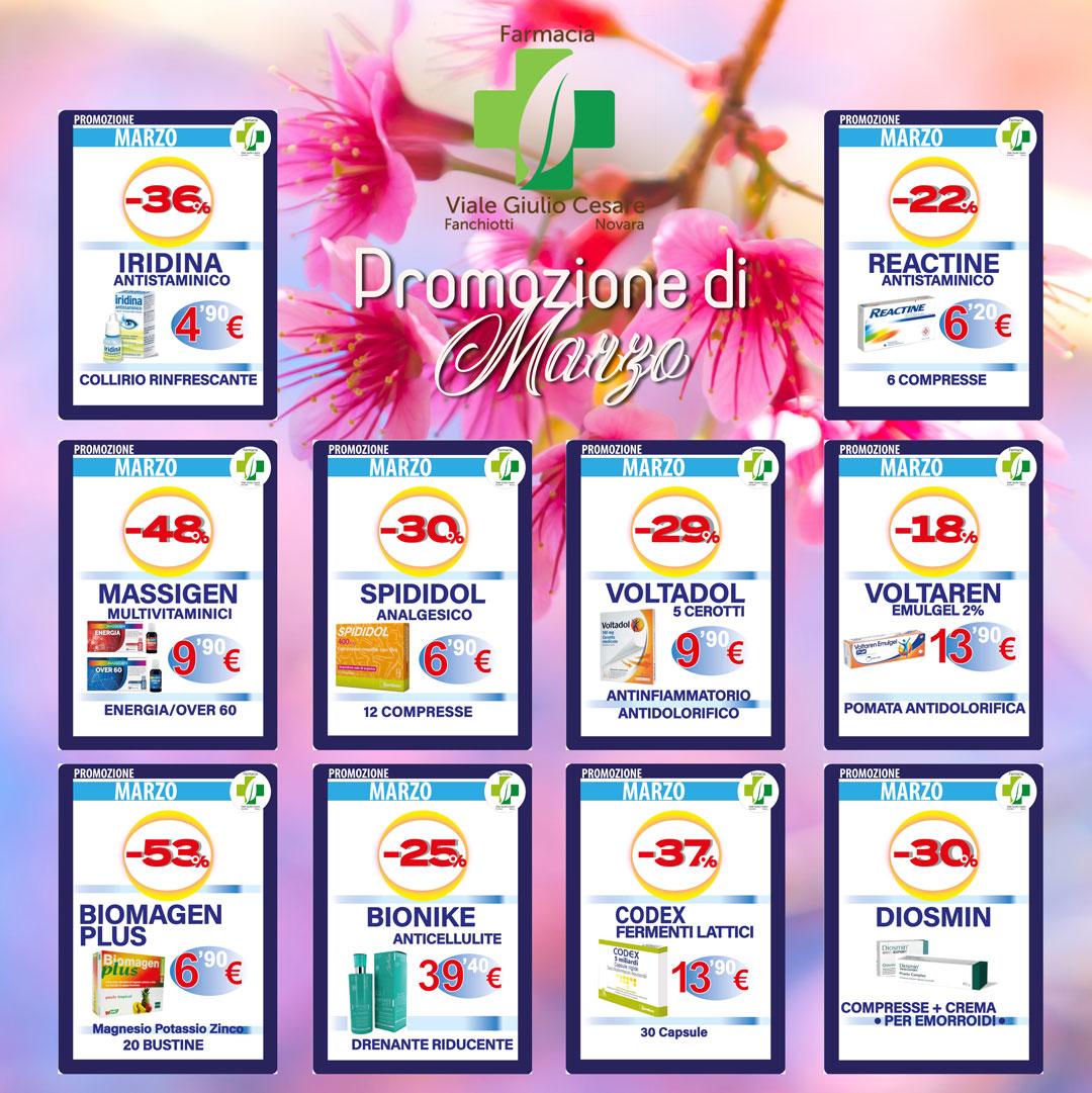 Farmaci sconti Novara marzo Farmacia Viale Gulio Cesare