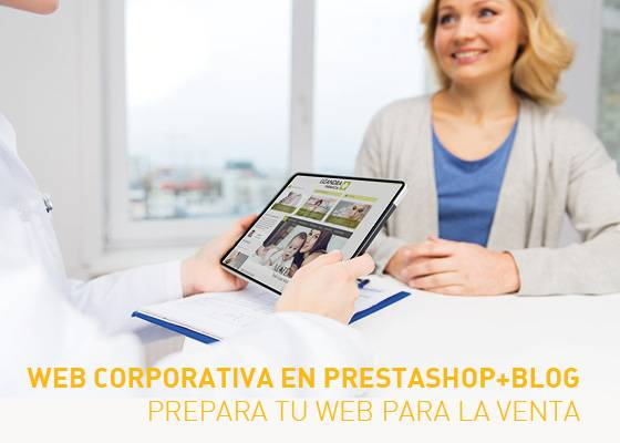 Web corporativa para farmacia en prestashop