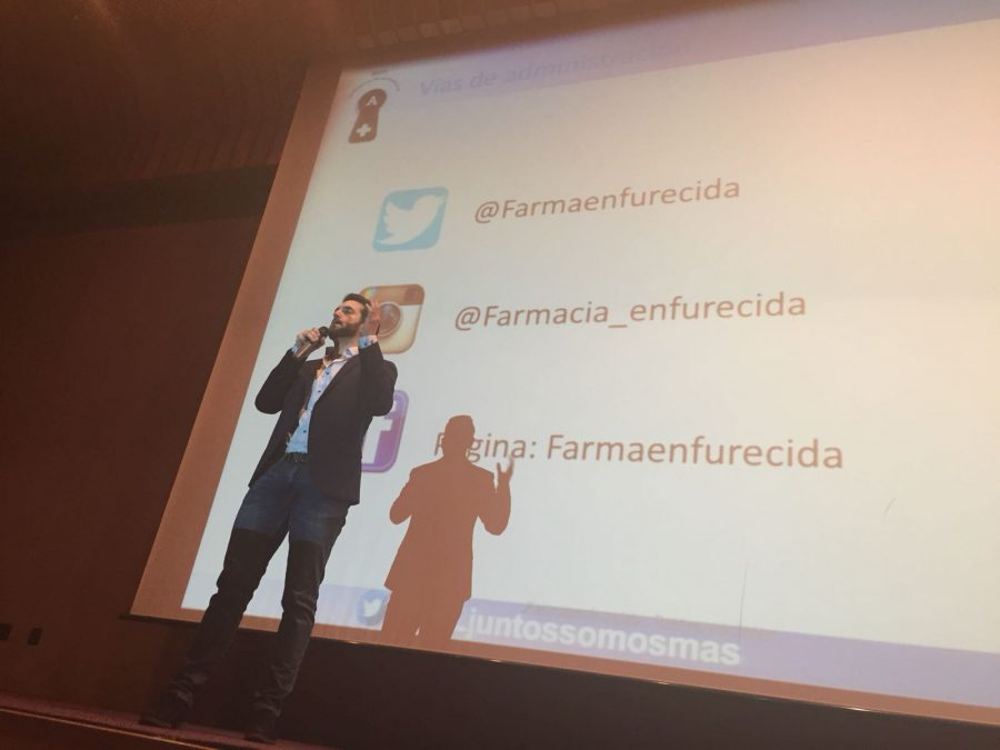 Guillermo Melgar @farmaenfurecida Congreso Salamanca