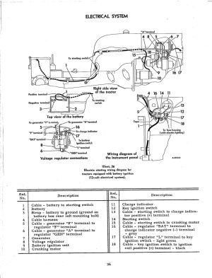 1966 12 volt with generator, wiring diagram  Farmall Cub