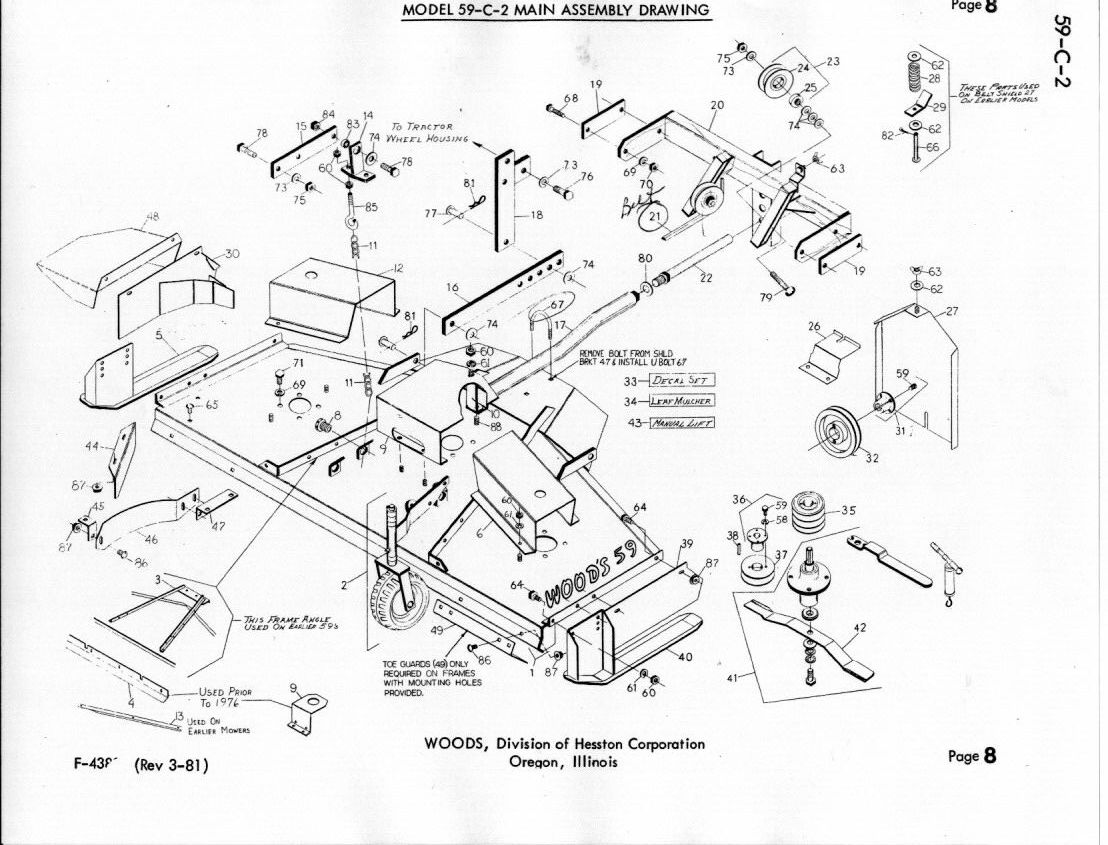 Woods 59 C 2 Rotary Mower Manual