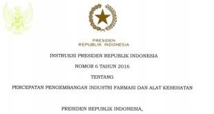 INPRES Nomor 6 Tahun 2016