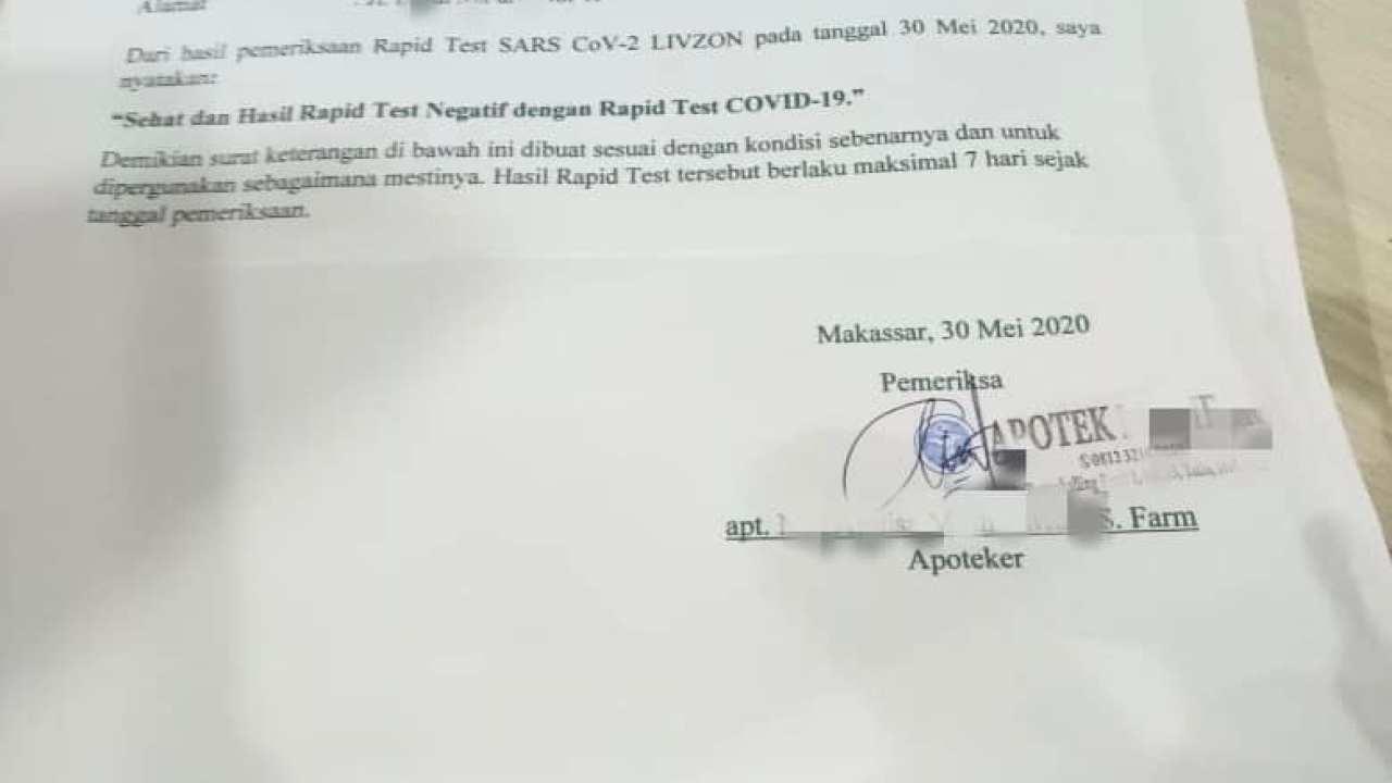Klarifikasi Surat Keterangan Sehat Bebas Covid 19 Dari Apoteker Info Farmasi Terkini Berbasis Ilmiah Dan Praktis