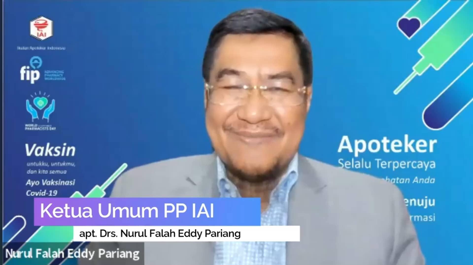 WPD 2021, PP IAI Ingatkan Hati Nurani Apoteker, Konsisten dengan Ucapan Sumpahnya