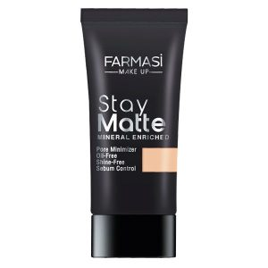 farmasi make up stay matte fondoten 30 ml light beige 09 - Farmasi Make Up Stay Matte Fondöten 30 Ml Lıght Beıge-09