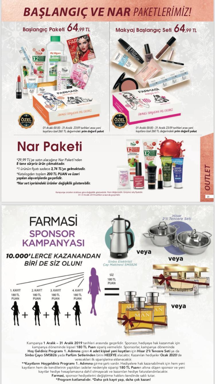 farmasi sponsor kampanyası aralık 2019