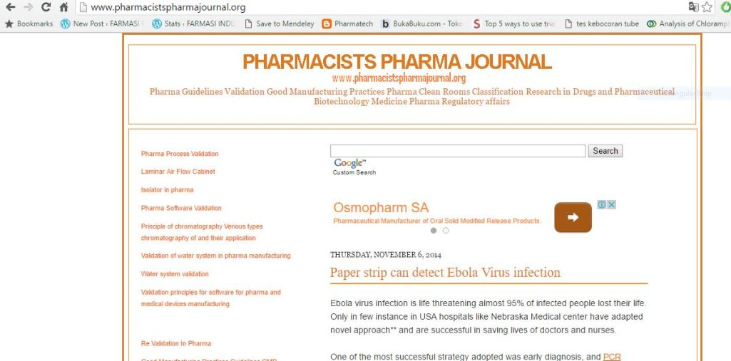pharmacist pharma journals