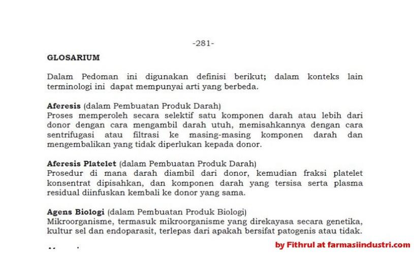 Glossarium Istilah di CPOB 2012