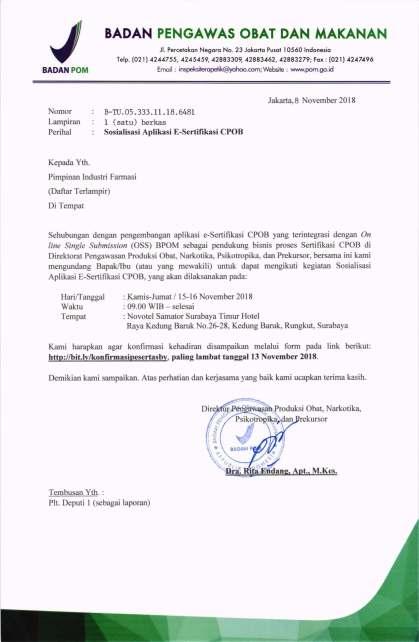 2018-11-8 Undangan Sosialisasi Aplikasi e-Sertifikasi CPOB di Surabaya (IF Jatim )_Page_1