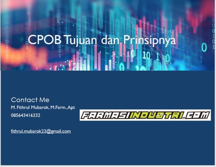 CPOB tujuan dan prinsip