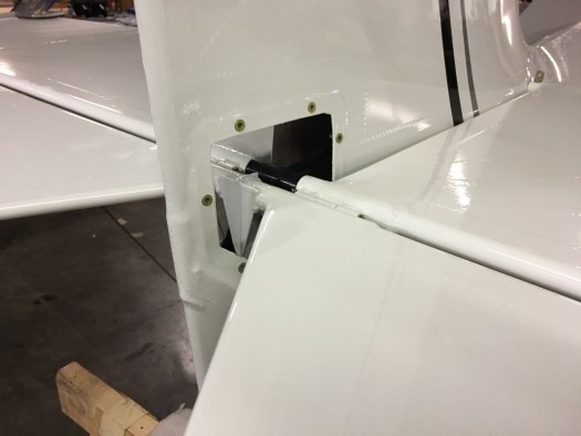 More open inspection panel in the tail feathers