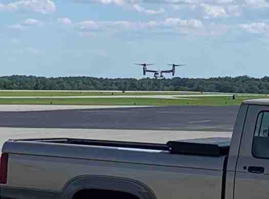 V-22 Osprey practicing at HRJ